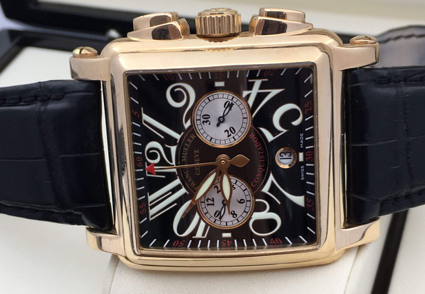 法兰克穆勒手表售后服务中心维修好的手表展示